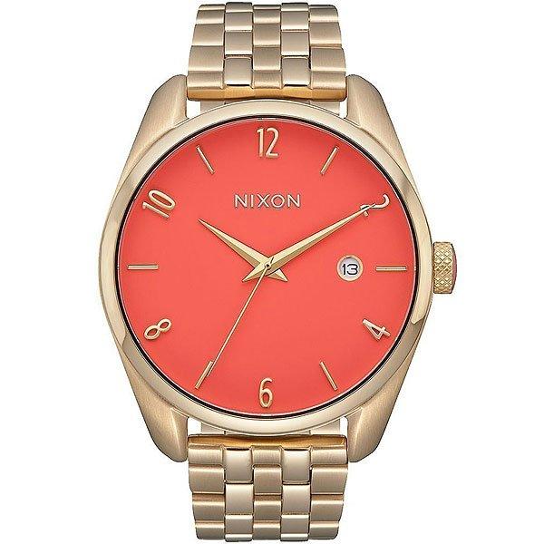 Кварцевые часы женские Nixon Bullet Gold/Coral nixon часы nixon a418 2129 коллекция bullet