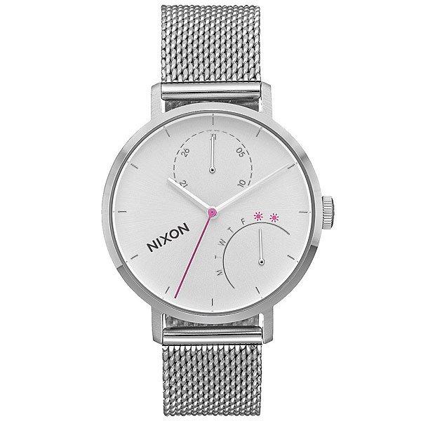 Кварцевые часы женские Nixon Clutch Silver<br><br>Цвет: Светло-серый<br>Тип: Кварцевые часы<br>Возраст: Взрослый<br>Пол: Женский