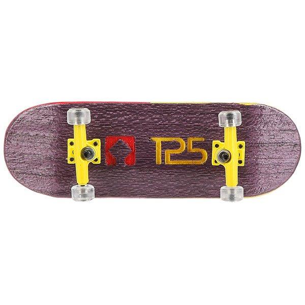Фингерборд Turbo-Fb П10 Wide 32м с деревянным боксом Purple/Yellow/Clear<br><br>Цвет: фиолетовый,желтый<br>Тип: Фингерборд<br>Возраст: Взрослый<br>Пол: Мужской