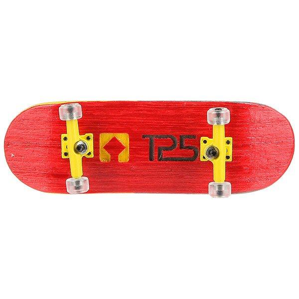 Фингерборд Turbo-Fb П10 Wide 32м с деревянным боксом Red/Yellow/Clear<br><br>Цвет: красный,желтый<br>Тип: Фингерборд<br>Возраст: Взрослый<br>Пол: Мужской