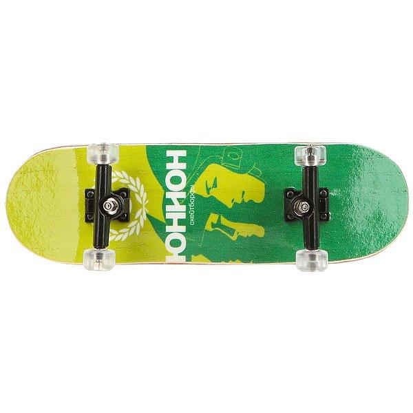 Фингерборд Turbo-Fb Комплект в боксе (П9) бокс Юнион/Faces/Green/Black/Clear<br><br>Цвет: зеленый,черный<br>Тип: Фингерборд<br>Возраст: Взрослый<br>Пол: Мужской