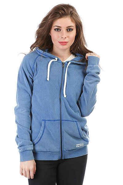 Толстовка кенгуру женская Billabong Essential Blue толстовка женская billabong essential cr 2016 dkathl grey l