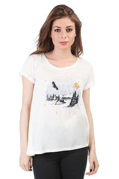 Футболка женская Roxy Mimijungleeagle Marshmellow<br><br>Цвет: белый<br>Тип: Футболка<br>Возраст: Взрослый<br>Пол: Женский