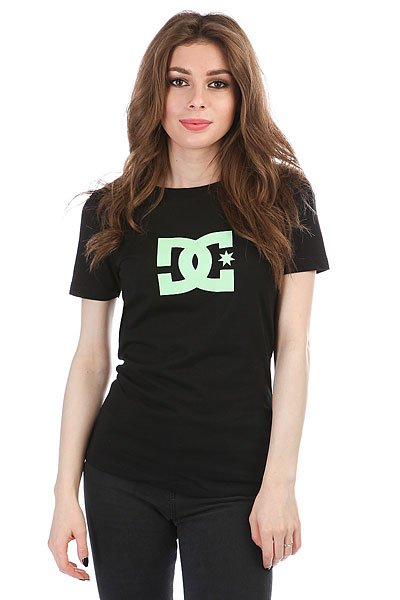 Футболка женская DC Star Wmn Tees Black/ Pistachio dc shoes майка dc this way out ta tees black