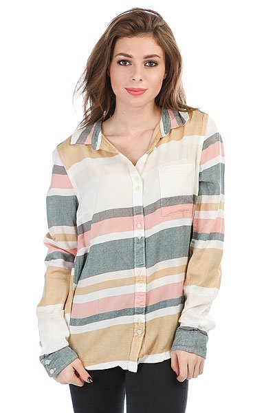 Рубашка женская Roxy Heavyfeelings Marshmallow Blanket<br><br>Цвет: мультиколор<br>Тип: Рубашка<br>Возраст: Взрослый<br>Пол: Женский