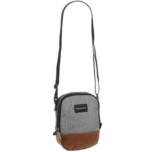 Сумка Quiksilver Dies Medium Grey HeatherНебольшая сумка через плечо Black Dies.Технические характеристики: Одно основное отделение на молнии.Лямка регулируемой длины.Объем — 1,5 л.<br><br>Цвет: серый,оранжевый<br>Тип: Сумка<br>Возраст: Взрослый<br>Пол: Мужской