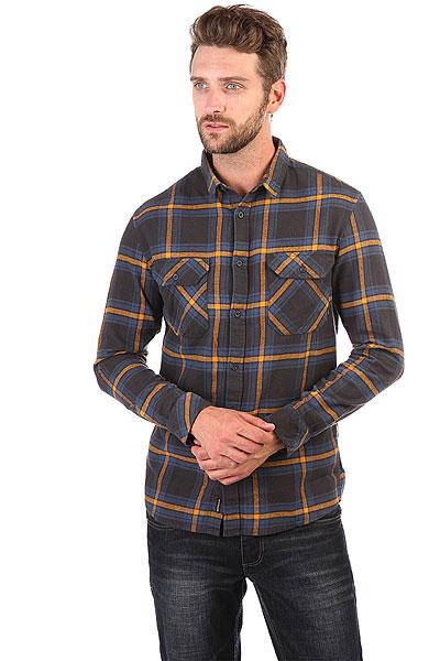 Рубашка в клетку Quiksilver Fitzforktail Tarmac<br><br>Цвет: черный,синий,желтый<br>Тип: Рубашка в клетку<br>Возраст: Взрослый<br>Пол: Мужской