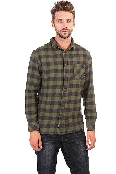 Рубашка в клетку Quiksilver Motherflyfla Riffle Green<br><br>Цвет: черный,зеленый<br>Тип: Рубашка в клетку<br>Возраст: Взрослый<br>Пол: Мужской