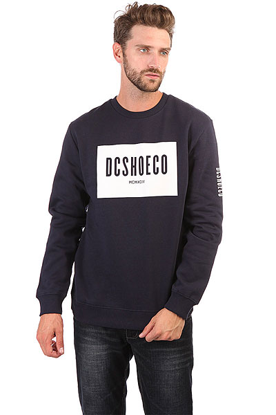 Свитшот DC Squareside Crew Dark Indigo футболка wearcraft premium slim fit printio шварц