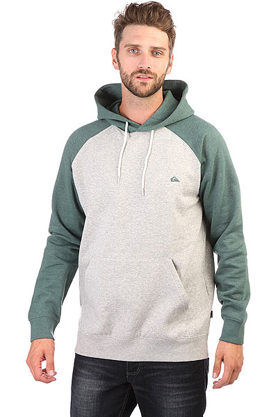 Толстовка кенгуру Quiksilver Everyday Hood Grey Heather толстовка кенгуру quiksilver keller hood wild ginger