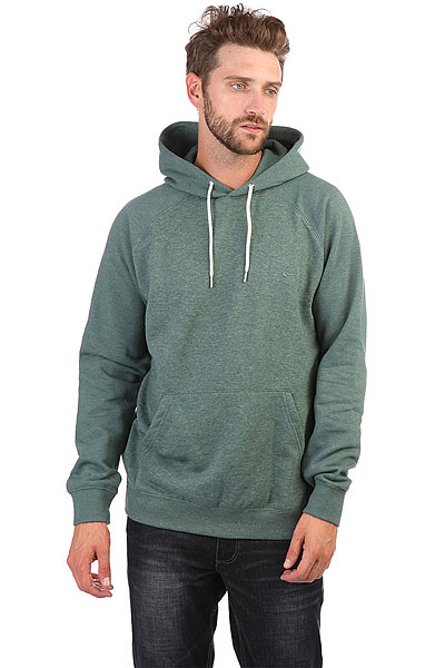 Толстовка кенгуру Quiksilver Everyday Hood Silver Pine Heather толстовка кенгуру quiksilver keller hood wild ginger