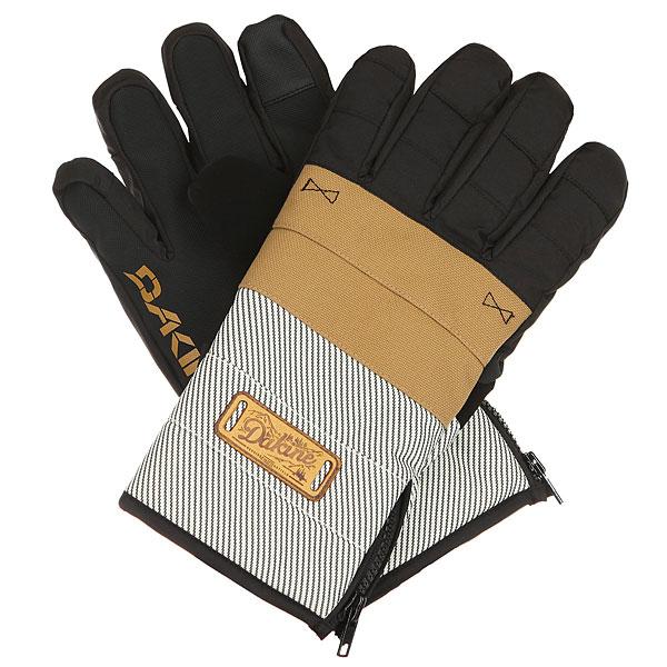 Перчатки Dakine Omega Glove UnionМужские перчатки с манжетой на молнии Dakine Omega созданы для холодной погоды. Перчатки подходят для работы с сенсорными экранами.Технические характеристики: Индекс тепла 3/5.Мембрана DK Dry Waterproof  блокирует влагу извне, сохраняя руки в сухости и тепле.Утеплитель High loft synthetic 80г создает воздушное пространство, сохраняющее тепло и в то же время позволяет рукам дышать.Ладонь выполнена из материала Rubbertec - полиэстер с прорезиненным покрытием. Водонепроницаемый, устойчивый к истиранию материал повышенной прочности.Водоотталкивающая пропитка DWR.Подкладка из флиса 230г.Манжета на молнии.Вставка для вытирания носа на большом пальце.<br><br>Цвет: бежевый,черный<br>Тип: Перчатки<br>Возраст: Взрослый<br>Пол: Мужской