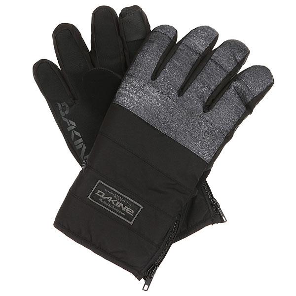 Перчатки Dakine Omega Glove BlackМужские перчатки с манжетой на молнии Dakine Omega созданы для холодной погоды. Перчатки подходят для работы с сенсорными экранами.Технические характеристики: Индекс тепла 3/5.Мембрана DK Dry Waterproof  блокирует влагу извне, сохраняя руки в сухости и тепле.Утеплитель High loft synthetic 80г создает воздушное пространство, сохраняющее тепло и в то же время позволяет рукам дышать.Ладонь выполнена из материала Rubbertec - полиэстер с прорезиненным покрытием. Водонепроницаемый, устойчивый к истиранию материал повышенной прочности.Водоотталкивающая пропитка DWR.Подкладка из флиса 230г.Манжета на молнии.Вставка для вытирания носа на большом пальце.<br><br>Цвет: черный<br>Тип: Перчатки<br>Возраст: Взрослый<br>Пол: Мужской