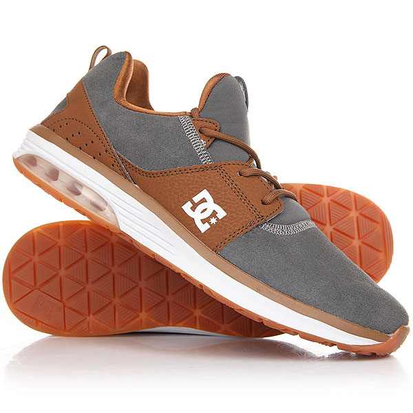 Кроссовки DC Heathrow Shoe Brown/Grey кроссовки dc shoes heathrow ia tr black