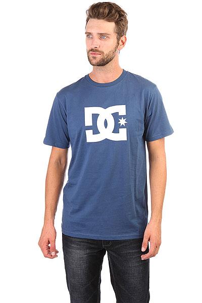 Футболка DC Star Washed Indigo<br><br>Цвет: Темно-голубой<br>Тип: Футболка<br>Возраст: Взрослый<br>Пол: Мужской