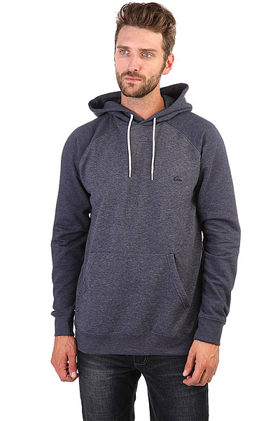 Толстовка кенгуру Quiksilver Everyday Hood Navy Blazer Heather толстовка кенгуру quiksilver keller hood wild ginger