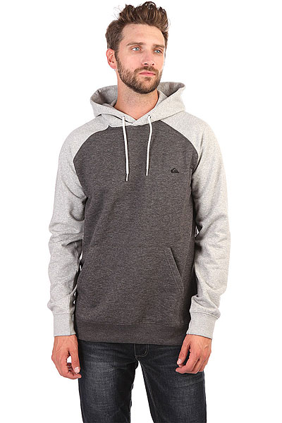 Толстовка кенгуру Quiksilver Everyday Hood Tarmac Heather толстовка кенгуру quiksilver keller hood wild ginger