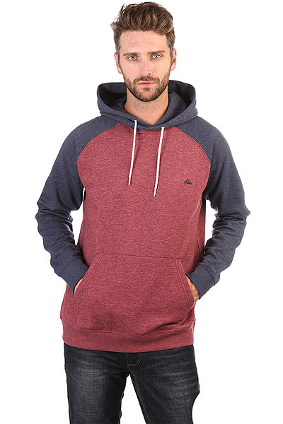 Толстовка кенгуру Quiksilver Everyday Hood Pomegranate Heather толстовка кенгуру quiksilver keller hood wild ginger