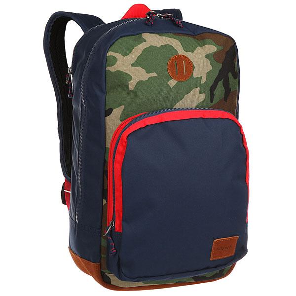 Рюкзак городской Nixon Range Backpack Navy/Woodland Camo<br><br>Цвет: синий,зеленый,коричневый,бежевый<br>Тип: Рюкзак городской<br>Возраст: Взрослый<br>Пол: Мужской
