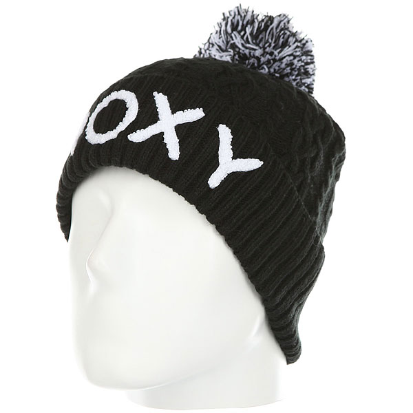 Шапка женская Roxy Fjord Beanie True Black roxy гейтор roxy winter true black fw17