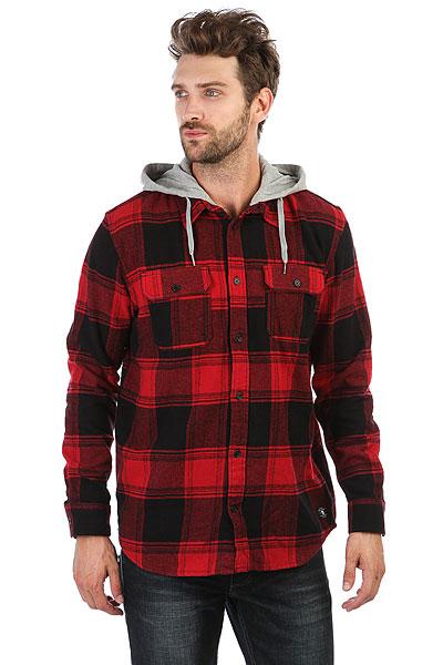Рубашка в клетку DC Runnel Rio Red<br><br>Цвет: красный,черный<br>Тип: Рубашка в клетку<br>Возраст: Взрослый<br>Пол: Мужской