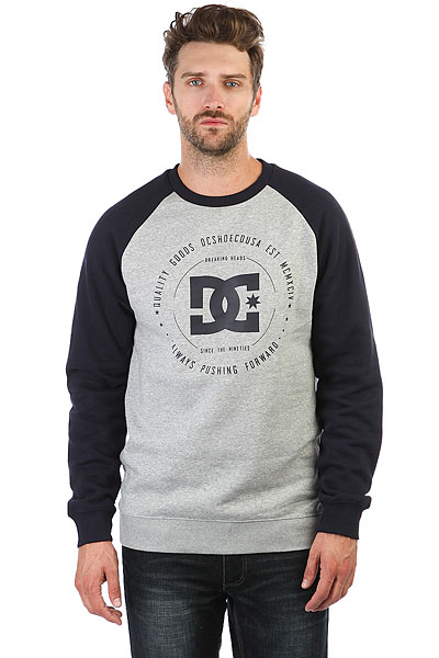 Фото #1: Толстовка свитшот DC Rebuilt Crew Grey Heather