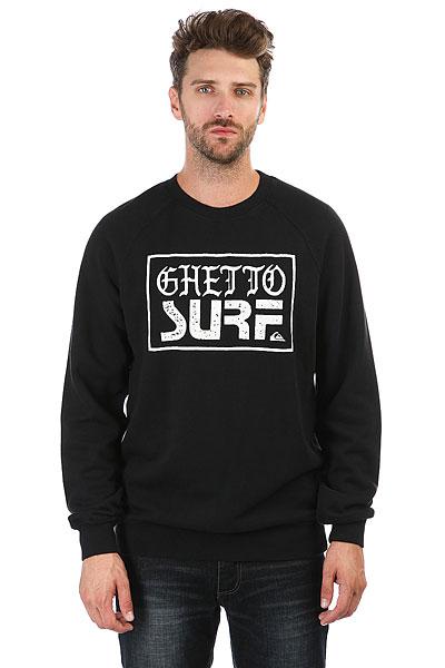 Свитшот Quiksilver Ghettosurfcrew Black<br><br>Цвет: черный<br>Тип: Свитшот<br>Возраст: Взрослый<br>Пол: Мужской