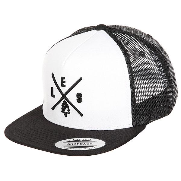Бейсболка с сеткой Les Trucker Black/White/Black<br><br>Цвет: черный,белый<br>Тип: Бейсболка с сеткой<br>Возраст: Взрослый