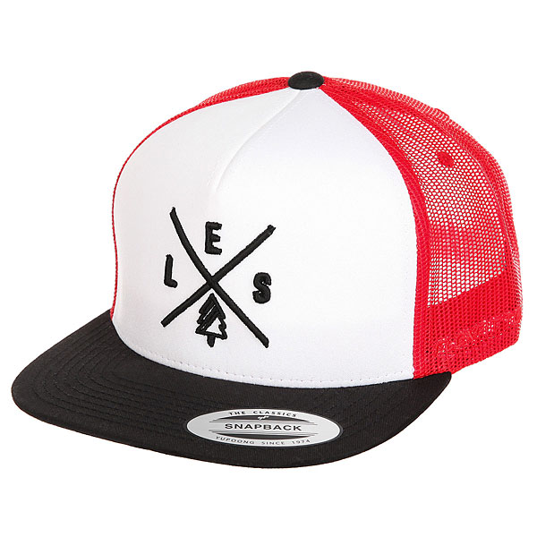 Бейсболка с сеткой Les Trucker Black/White/Red