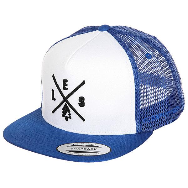 Бейсболка с сеткой Les Trucker Royal/White/Royal<br><br>Цвет: белый,синий<br>Тип: Бейсболка с сеткой<br>Возраст: Взрослый
