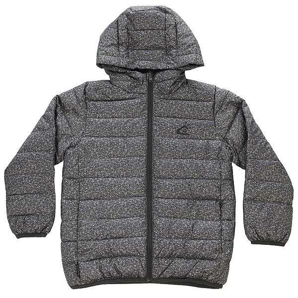 Куртка зимняя детская Quiksilver Scalyboy Dark Grey HeatherТеплая, мягкая, очень удобная куртка для Вашего ребенка, контрастного дизайна и свободного кроя с капюшоном обеспечит максимально длительное пребывание на свежем воздухе с оптимальным комфортом даже в очень сильные холода, в сырую и ветреную погоду.Характеристики:Изготовлена из прочного, износоустойчивого полиэстера с водоотталкивающей обработкой. Надежный внутренний утеплитель.Гладкая подкладка не сковывает движения, позволяя куртке легко скользить по нижнему слою одежды. Молния полной длины. Интегрированный капюшон.Эластичные резинки манжет и низа куртки обеспечат дополнительную тепло- и влагоизоляцию. Горизонтальные строчки отлично поддерживают внутренний утеплитель для равномерного распределения. Два функциональных передних кармана на молнии.Небольшой нагрудный карман.<br><br>Цвет: серый<br>Тип: Куртка зимняя<br>Возраст: Детский