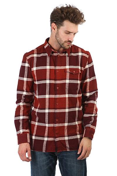 Рубашка в клетку DC Marsha Ls Burnt Henna<br><br>Цвет: красный,белый<br>Тип: Рубашка в клетку<br>Возраст: Взрослый<br>Пол: Мужской