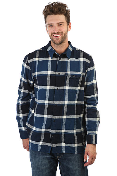 Рубашка в клетку DC Marsha Ls Washed Indigo рубашка в клетку dc kalis plaid ls wvtp kalis plaid chili pepper