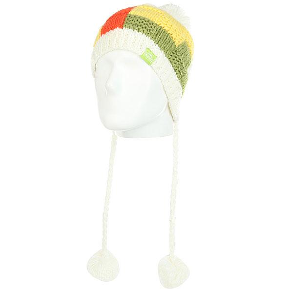 Шапка детская Dakine Zoey White<br><br>Цвет: белый,Светло-зеленый,желтый<br>Тип: Шапка<br>Возраст: Детский