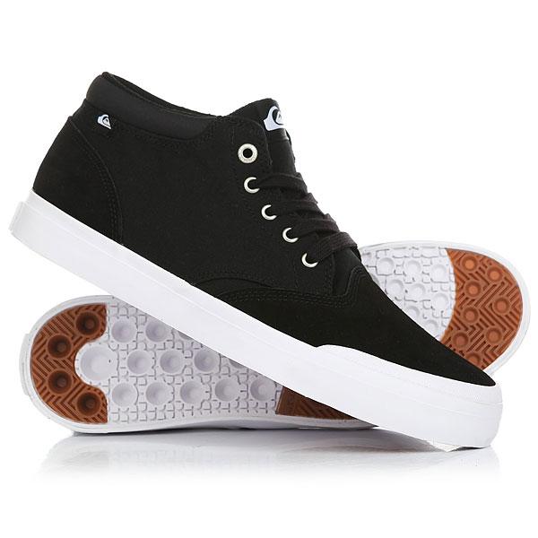 Кеды кроссовки низкие Quiksilver Verant Mid Black/White кеды кроссовки низкие детские quiksilver beacon blue white