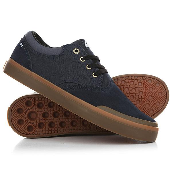 Кеды кроссовки низкие Quiksilver Verant Blue/Brown/Blue кеды кроссовки низкие детские quiksilver beacon blue white