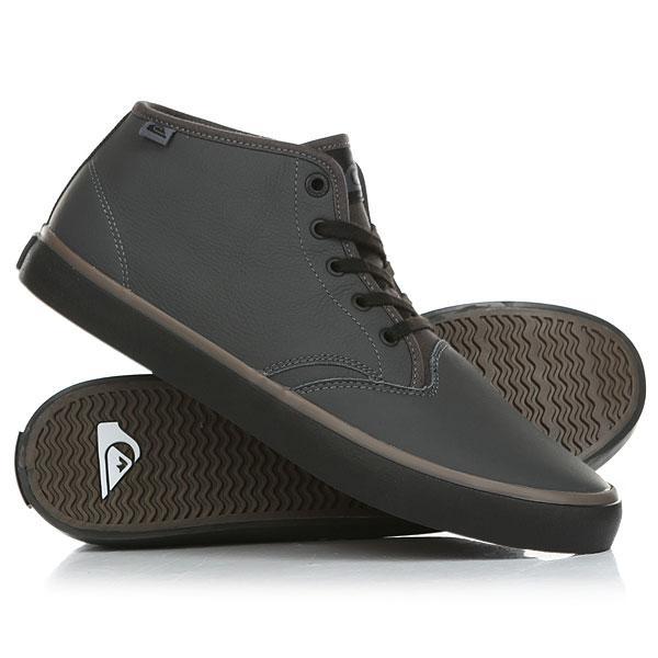 Кеды кроссовки высокие Quiksilver Shorebreakpmmid Grey/Black кеды кроссовки низкие детские quiksilver beacon black black grey