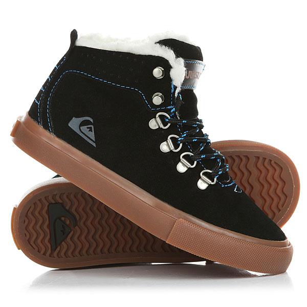 Кеды кроссовки зимние детские Quiksilver Jax Black/Brown кеды кроссовки низкие детские quiksilver beacon black black grey