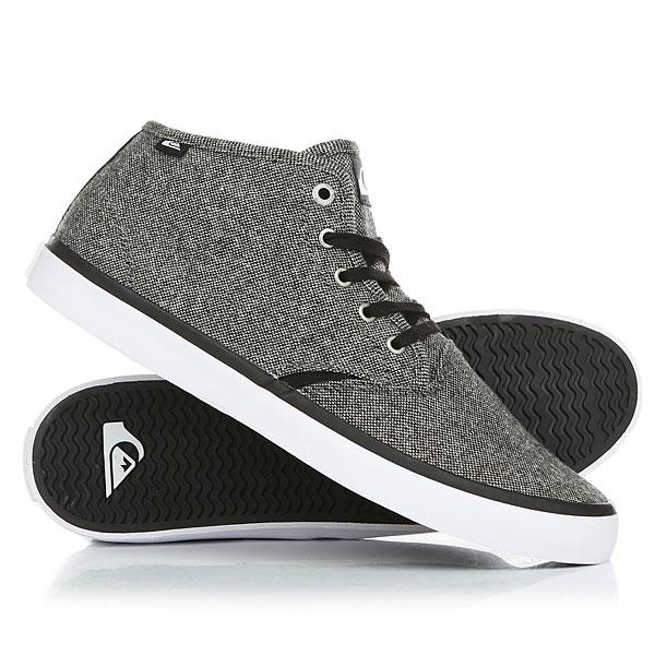 Кеды кроссовки высокие Quiksilver Shorebreak Mid Grey/Black/White кеды кроссовки низкие детские quiksilver beacon black black grey