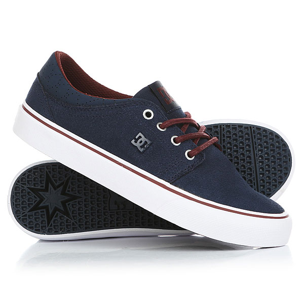Кеды кроссовки низкие женские DC Trase Se Dark Blue dc shoes кеды dc heathrow se 11