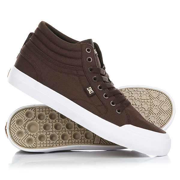 Кеды кроссовки высокие DC Evansmith Hi Tx Chocolate кеды кроссовки высокие женские dc rebound high tx navy gum