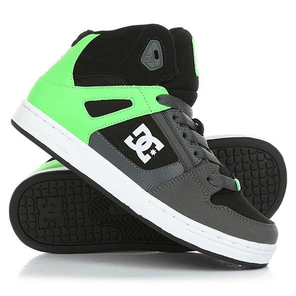 Кеды кроссовки высокие детские DC Rebound Se Green/Black/White кеды кроссовки высокие женские dc rebound high tx navy gum