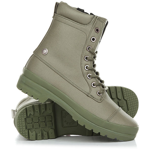 Ботинки высокие женские DC Amnesti Tx OliveСтильные ботинки из вощеной парусины для большого города.Технические характеристики: Вощеный парусиновый верх.Застежка на молнии.Вулканизированная конструкция.Подошва с фирменным рисунком протектора DC Pill Pattern.<br><br>Цвет: зеленый<br>Тип: Ботинки высокие<br>Возраст: Взрослый<br>Пол: Женский