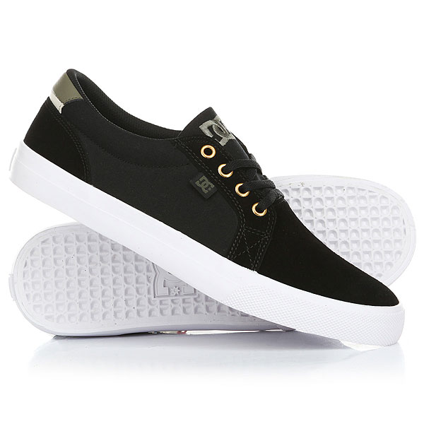 Кеды кроссовки низкие DC Council Sd Black/Military dc shoes кеды dc council black cream 8 5