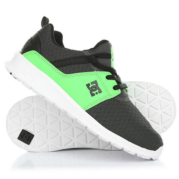 Кроссовки детские DC Heathrow Se Green/Grey/White dc shoes кеды dc heathrow 8