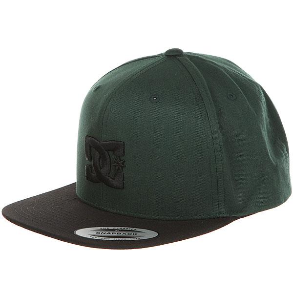 Бейсболка с прямым козырьком DC Snappy Hats Sycamore<br><br>Цвет: черный,Темно-зеленый<br>Тип: Бейсболка с прямым козырьком<br>Возраст: Взрослый
