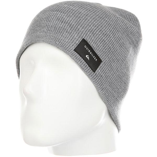 Шапка Quiksilver Cushy Hats Grey Heather<br><br>Цвет: Светло-серый<br>Тип: Шапка<br>Возраст: Взрослый<br>Пол: Мужской