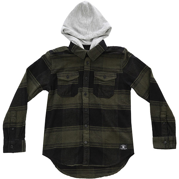 Рубашка в клетку детская DC Runnel Boy Dark Olive бомбер dc hexham dark olive