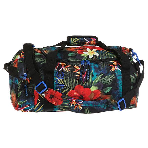 Сумка спортивная женская Dakine TropicsСумка Dakine Womens EQ Bag - это женская сумка для путешествий, которая идеально подойдет и для долгой и для непродолжительной поездки.Характеристики:За счет U-образного входа обеспечен легкий и быстрый доступ к внутреннему пространству сумки. Основное отделение.Боковой карман на молнии. Эргономичные ручки. Съемный плечевой ремень. Сумка компактно складывается в боковой карман до размеров небольшого клатча.<br><br>Цвет: мультиколор<br>Тип: Сумка спортивная<br>Возраст: Взрослый<br>Пол: Женский