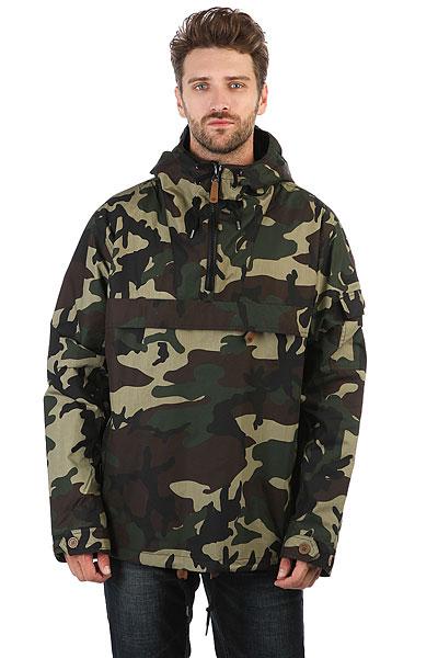 Анорак Dickies Pollard CamouflageКуртки от бренда Dickies подчеркнут вашу индивидуальность и отличное чувство вкуса.Характеристики:Внутренняя подкладка из тафты.Фиксированный капюшон с регулировкой. Молния до середины груди.Манжеты на липучках на рукавах.Карман-«кенгуру».<br><br>Цвет: Темно-зеленый<br>Тип: Анорак<br>Возраст: Взрослый<br>Пол: Мужской